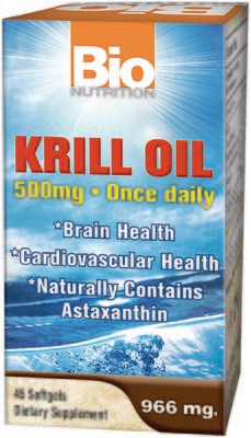 Krill Oil 500mg (45 softgels)
