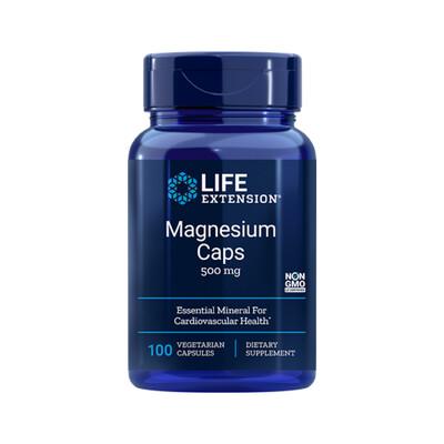 Magnesium Caps 500mg (100 caps)