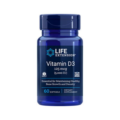 Vitamin D3 5000 IU (60 softgels)