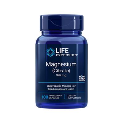 Magnesium Citrate 160 mg (100 caps)