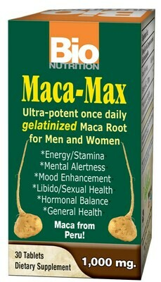 Maca-Max 1,000mg Gelanitized (30 tabs)