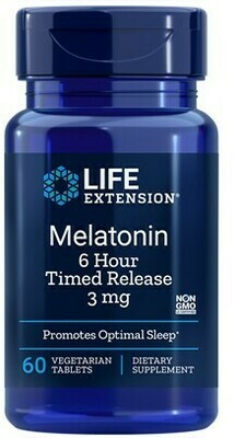Melatonin 6 Hour Timed Release 3 mg (60 veg. tablets)