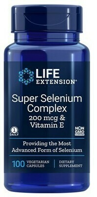 Super Selenium Complex 200mcg & Vitamin E (100 veg. caps)