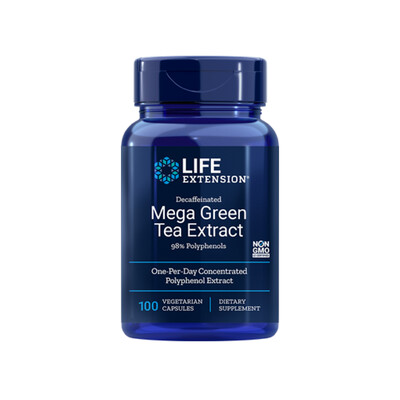 Decaffeinated Mega Green Tea Extract (100 veg. caps)