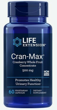 Cran-Max® Cranberry Whole Fruit Concentrate 500mg (60 veg. caps)