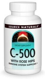Vitamin C-500 w/ Rose Hips (50 tabs)