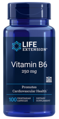 Vitamin B6 250mg (100 veg. caps)