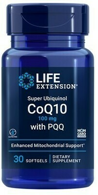 Super Ubiquinol CoQ10 with PQQ 100mg 30 softgels