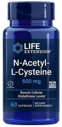 NAC (N-Acetyl-L-Cysteine) 600mg (60 caps)
