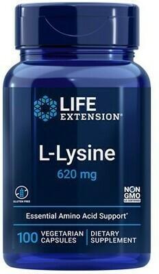 L-Lysine 620mg 100 cápsulas vegetarianas