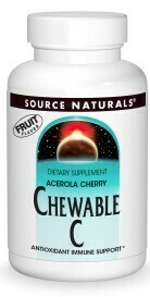 Vitamina Chewable C, Acerola Cherry (100 tabs)