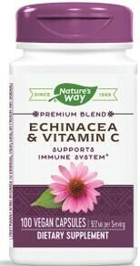 Echinacea & Vitamina C (100 capsulas vegetarianas)