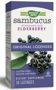 Sambucus Elderberry Lozenges w/ Vitamin C Gluten Free (30 lozenges)