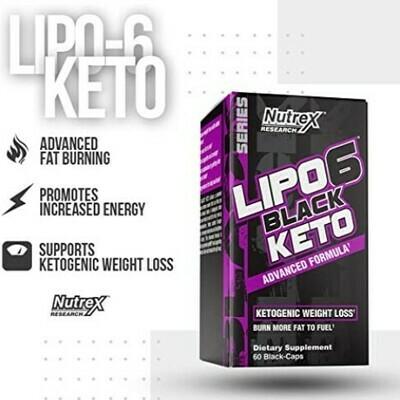Lipo-6 Keto | Soporte cetogénico para pérdida de peso (60 black caps)