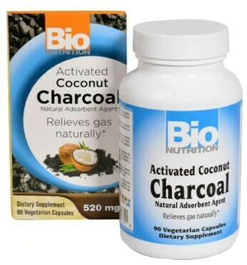 ACTIVATED CHARCOAL 520MG BIO NUTRITION (90 CAPSULES)