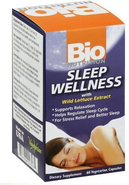SLEEP WELLNESS W/ WILD LETTUCE EXTRACT (60 VEG.CAPS)