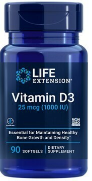 Vitamin D3 1000 IU (90 softgels)