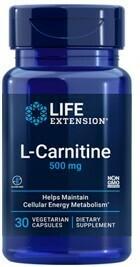 L-Carnitine 500 mg (30 capsulas vegetarianas)
