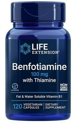 Benfotiamine (B1) w/ Thiamine 100 mg (120 Caps)