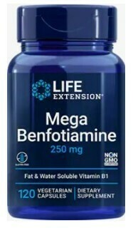 Mega Benfotiamine (B1) 250mg (120 veg. caps)
