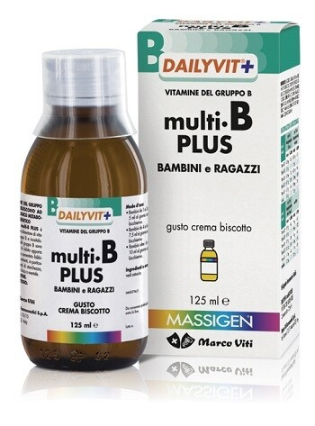 DAILYVIT+ MULTI B PLUS VITAMINE DEL GRUPPO B PER BAMBINI E RAGAZZI GUSTO CREMA BISCOTTO 125 ML