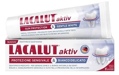 LACALUT AKTIV PROTEZIONE GENGIVALE & BIANCO DELICATO 75 ML