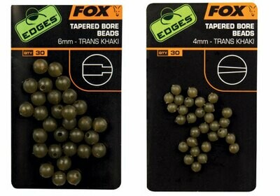 Taper bore beads