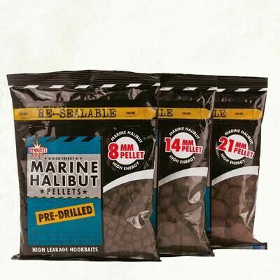 Marine Halibut Pre Drilled pellets
