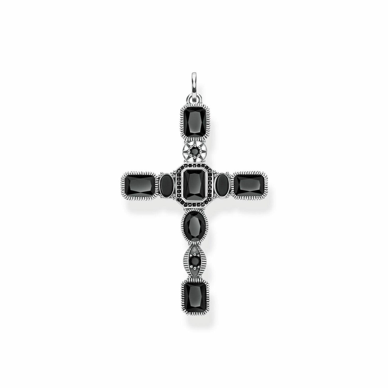 Pendentif croix noire