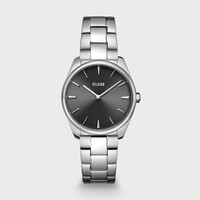 Féroce Petite Steel Dark Grey, Silver Colour 31.5MM