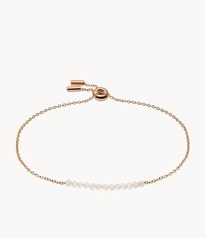 Bracelet de perles en quartz rose