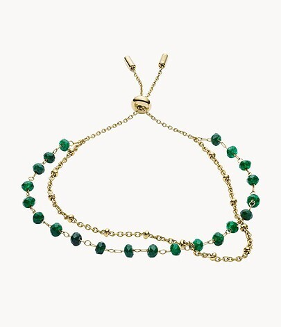 Bracelet de perles vertes