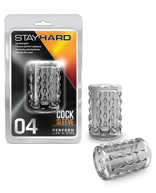 Stay Hard Cock Sleeve Clear