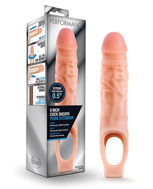 "Performance Cock Sheath Penis Extender 9"" Vanilla"