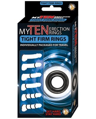 My Ten Erection Rings Tight Firm