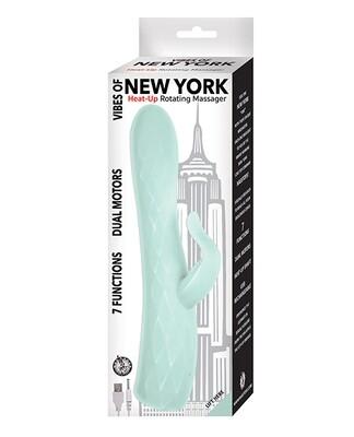 Vibes of New York Heat Up Rotating Massager Aqua