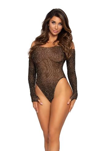 Shimmer Fishnet Bodysuit