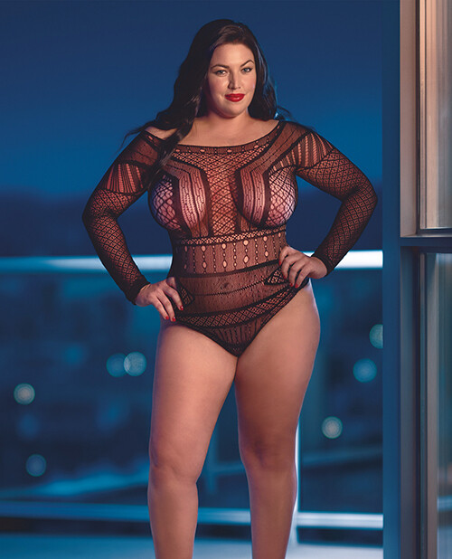 Scandal Off the Shoulder Body Suit Queen