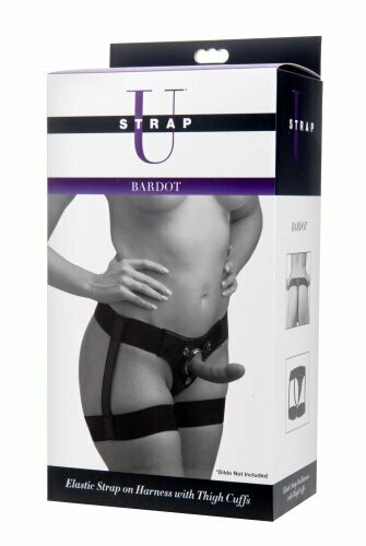 Strap U Bardot Elastic Strap-On Harness w/Thigh Cuffs