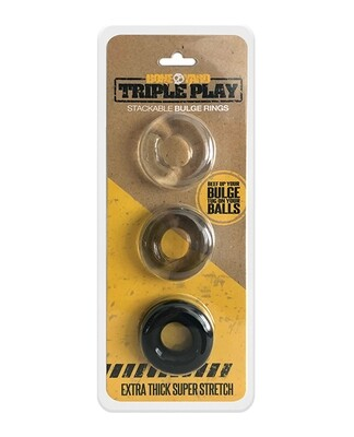 Boneyard Triple Play Stackable Bulge Rings