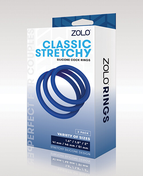 ZOLO Classic Stretchy Cock Rings 3 Pack