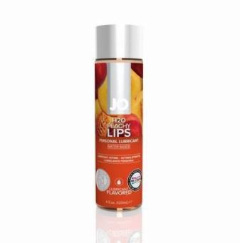 JO H2O Flavored Peachy Lips Lubricant 4 OZ
