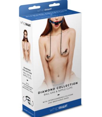 Diamond Collection Ball Gag & Clamps