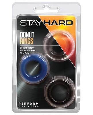 Stay Hard Donut Rings Multicolor