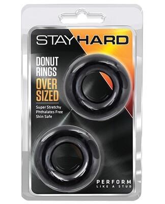 Stay Hard Donut Rings Oversized