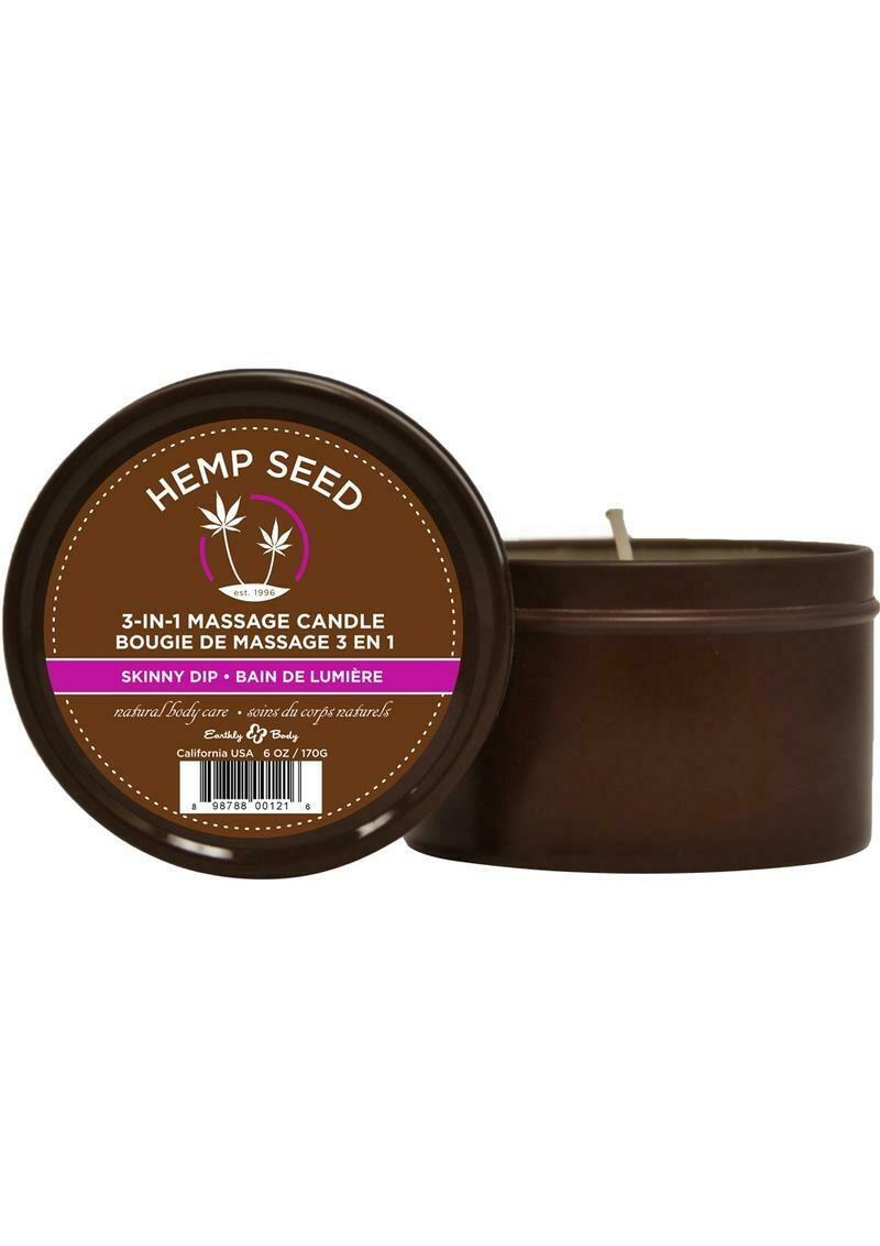 Hemp Seed 3 In 1 Massage Candle - Skinny Dip 6 oz