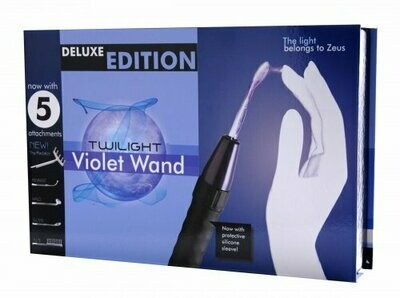 Zeus Electrosex Deluxe Edition Twilight Violet Wand With 5 Attachments