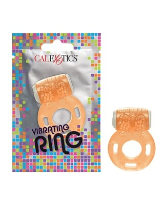Foil Pack Vibrating Cock Ring - Orange