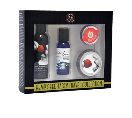 Strawberry Hemp Seed Tasty Travel Flavored Body Set