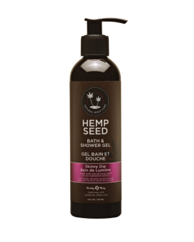 Hemp Seed Bath & Shower Gel Skinny Dip 8 oz
